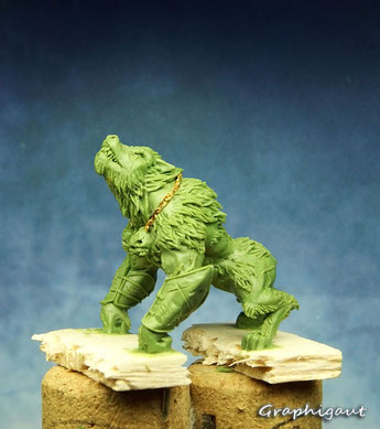 Mythic Battles: Pantheon, Lycaon, Monolith Games, fimo, beesputty, 32mm, handmade sculpture