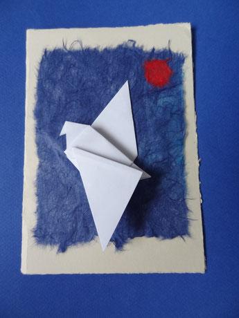carte avec origami