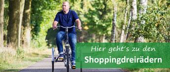Shopping-Dreirad für Erwachsene - Dreiräder vom Experten in der Schweiz