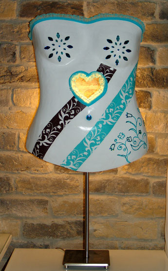 Geschenk für besondere Anlässe Abdruck von der Brust Po Bauch für den Partner zu Weihnachten Männertag oder Geburtstag edel gestaltet als Lampe