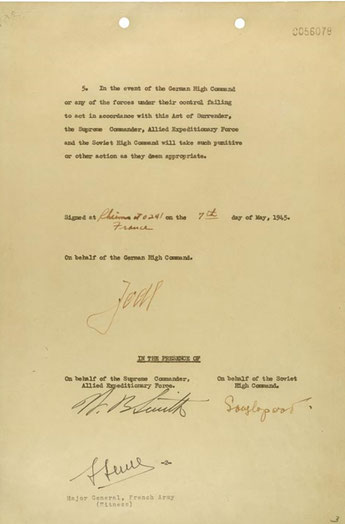 Militärische Kapitulationsurkunde (08.05.1945), Seite 2