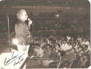 1980, Coliseo Evangelista Mora de Cali.