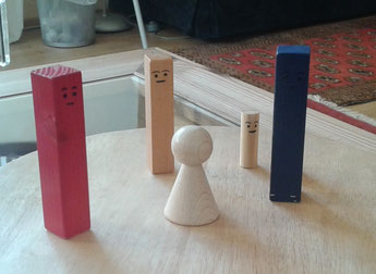 Symbolaufstellung mit Systembrett- Figuren
