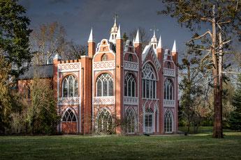 Gotisches Haus im Wörlitzer Park, aus Bildband Dessau-Wörlitzer Gartenreich