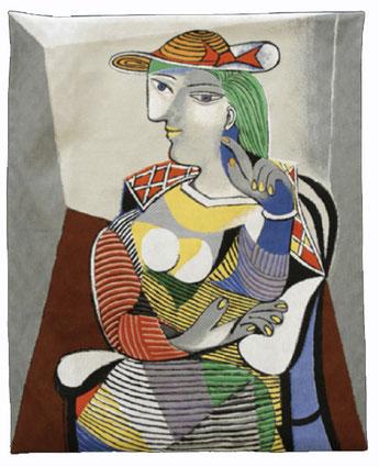 Tout le charme et l'originalité de Picasso en tapisserie, un must!