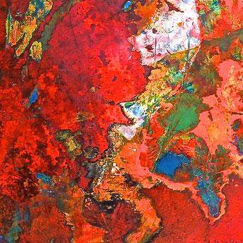 FARBgeSCHICHTEN, Ausschnitt, Bärbel Ertl-Beddig, Ertl,, Künstler, artist, Sardinien, Mühlheim an der Ruhr, tOG, take OFF GALLERY, Galerie Düsseldorf, Duesseldorf, Kunstraum, moderne Kunst