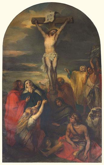 La mort du Christ peinte par J. Portaels en 1861