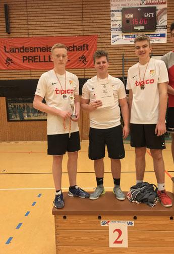 Männliche Jugend: Tjark Meyer, Simon Leder, Julian Severit