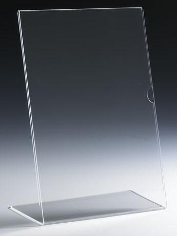 L-Aufsteller, verschiedene Größen A5, A4, A6, A7, FMU GmbH, Zahlteller und Aufsteller