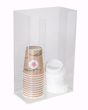 Becherständer coffee to go, 2-fach 9910032, FMU GmbH, Verkaufshilfen