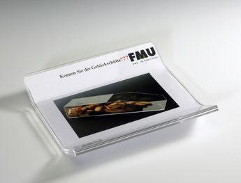 Zahlteller für Werbeinfos 9411010, FMU GmbH, Zahlteller und Aufsteller