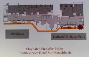 Hier werden Sie am Flughafen Hahn abgeholt