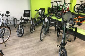 Dreiräder und Elektro-Dreiräder für Erwachsene, Senioren und Menschen mit Behinderungen im Dreirad-Zentrum Münster