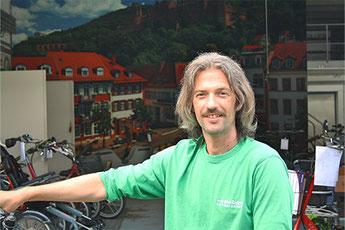 Jonas Albig, Dreirad-Zentrum Heidelberg - Werkstatt