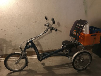 Pfau-Tec Combo Heck und Shopping-Dreirad mit Elektromotor gebraucht günstig kaufen als Schnäppchen im Dreirad-Zentrum Oberursel bei Frankfurt