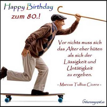 Spruch zum 80. Geburtstag