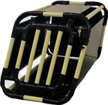 Hundebox Rücksitz S 9.1 (elfenbein/schwarz)