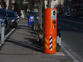 Geschwindigkeitsmessung in Bozen Landeshauptstadt von Südtirol Italien