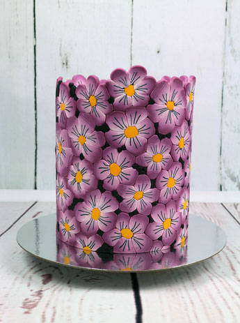 flower fondant pattern cake