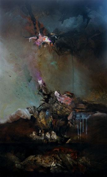 En sous sol Acrylique sur toile dim 162cmx97cm