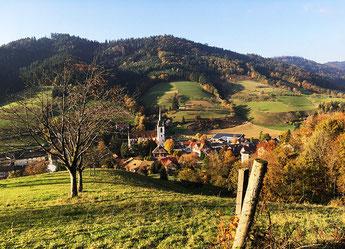 Nordrach Ortsansicht vom Obstbrennerweg