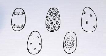 Easter eggs - slakkenpost.nl - Mandee Design