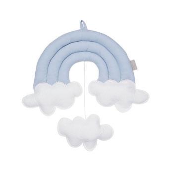 mobile arc en ciel decoration chambre bebe cadeau naissance