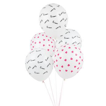 ballons coeurs et Bisou Mathide Cabanas décoration anniversaire - heart balloons party decoration