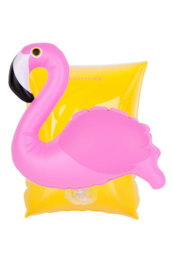 brassards enfant flamant rose - bouée enfant flamant rose - flamingo inflatable for kids