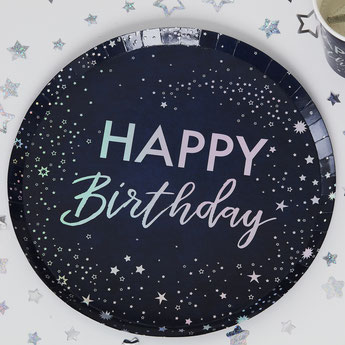 DECORATION ANNIVERSAIRE ADULTE BLEU CIEL, ARGENT - ADULT PARTY DECORATION