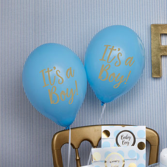 BALLONS BLEUS IT'S A BOY BABY SHOWER GARCON- BABY SHOWER BALLOONS