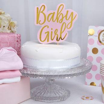 decoration gateau baby shower Baby girl