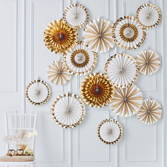 DECORATION ANNIVERSAIRE ADULTE BLANC ET OR- WHITE AND GOLD ADULT PARTY DECORATION