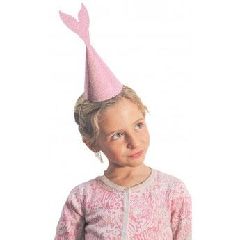 anniversaire-fille-theme-sirene-chapeaux-sirene-deguisement-sirene