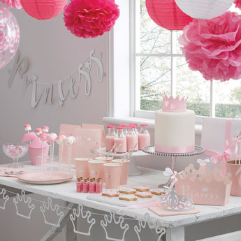 DECO BABY SHOWER FILLE THEME PRINCESS- PRINCESS DECORATION BABY SHOWER