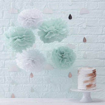 DECO BABY SHOWER VERT MENTHE - MINT BABY SHOWER PARTY DECORATION