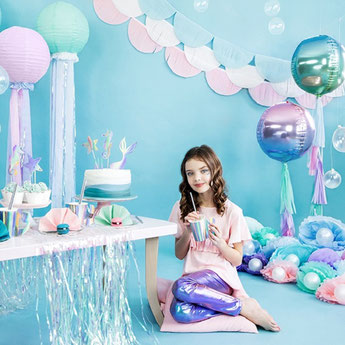 DECORATION ANNIVERSAIRE FILLE SIRENE- MERMAID GIRL PARTY DECORATION
