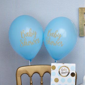 ballons imprimés baby shower gaçon- déco baby shower
