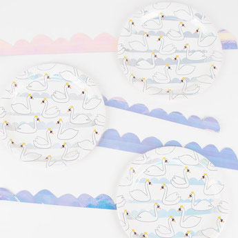 theme cygne irisé deco baby shower bapteme anniversaire - party birthday decoration iridescent swan