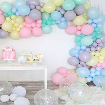 BALLONS UNIS POUR DECORATION ANNIVERSAIRE - PLAIN BALLOONS FOR PARTY DECORATION