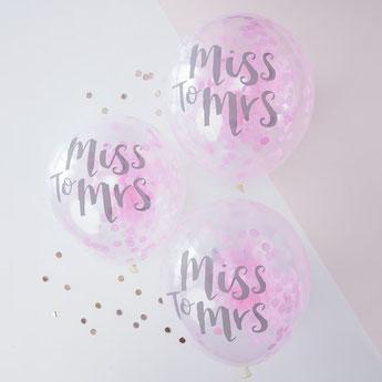 ballons confettis pour enterrement de vie de jeune fille - balloons bachelor party