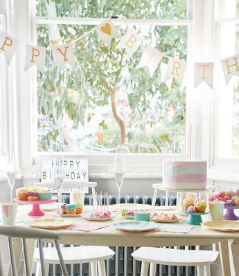 DECO FETE ANNIVERSAIRE PASTEL - PASTEL PARTY DECORATION