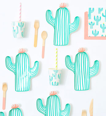 DECORATION ANNIVERSAIRE FILLE INDIENNE, CACTUS