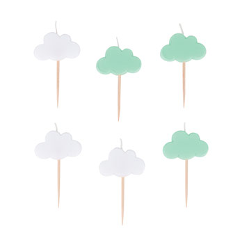 BOUGIES NUAGES DECORATION ANNIVERSAIRE- CLOUDS CANDLES PARTY DECORATION