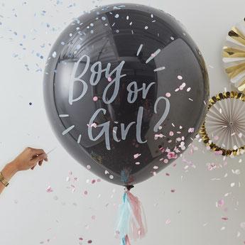 BALLONS BABY SHOWER AVEC CONFETTIS - BALLON ANNONCE SURPRISE FILLE OU GARCON