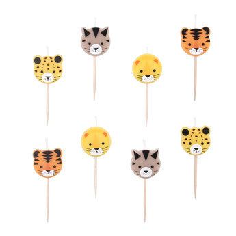 bougies animaux de la jungle deco baby shower anniversaire