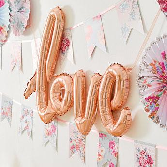 ballon métallique rose gold deco mariage bapteme anniversaire