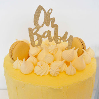 DECORATION GATEAU OH BABY- CAKE TOPPER OH BABY