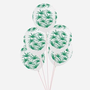 ballons imprimés feuilles exotiques deco anniversaire tropical- tropical party decoration