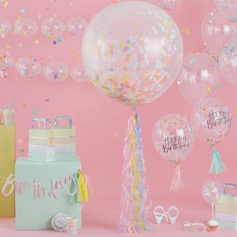 decoration-fete-anniversaire-pastel-ballons-confettis-decoration-de-table-pastel